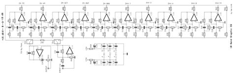 Band Graphic Equalizer Circuit Electronic Schematic