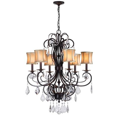 bronze chandelier with accents world imports annelise 6 light bronze chandelier with