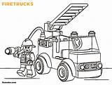 Coloring Truck Fire Printable Pages sketch template