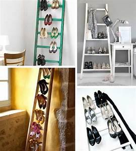Idée Rangement Chaussures A Faire Soi Meme : 15 rangements pour les chaussures faire soi m me ~ Dallasstarsshop.com Idées de Décoration