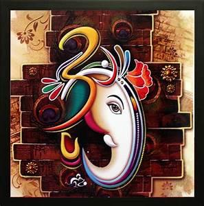 SAF Ganesh Oil Painting Price in India - Buy SAF Ganesh ...