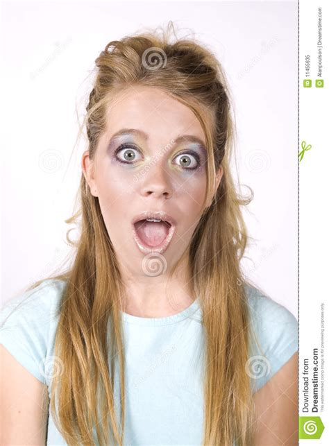 expression girl surprised mouth open stock image image