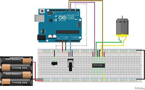 controlling  dc motor  arduino bc robotics