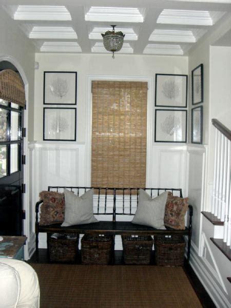 framed sea fans cottage entrancefoyer dunn edwards