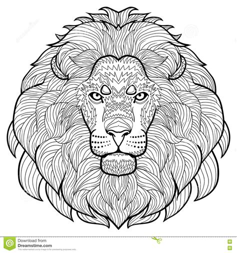 animal outline drawing anti stress coloring   head