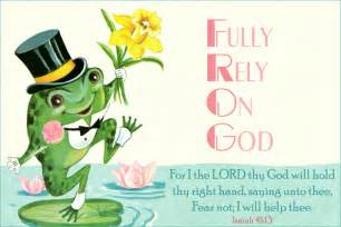 fully rely on god free christian message cards
