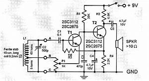 Two Transistor Am Radio Receiver Circuit