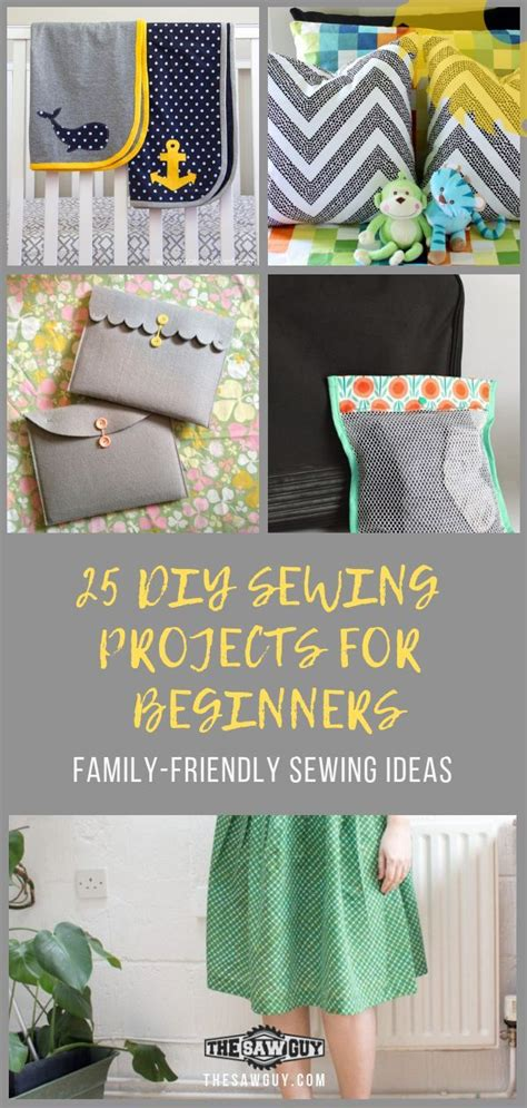diy sewing projects  beginners family friendly