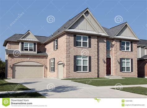 black brick house brick house with black shutters royalty free stock photo image 13321005