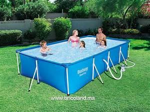 Piscine Hors Sol 4x2 : bricoland piscine hors sol tubulaire steel pro bestway maroc ~ Melissatoandfro.com Idées de Décoration
