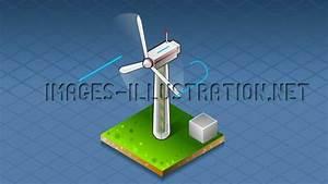 Isometric Diagram Wind Turbine That Produces Energy