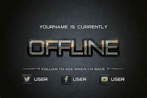 Twitch GamerGrunge Offline Banner Template