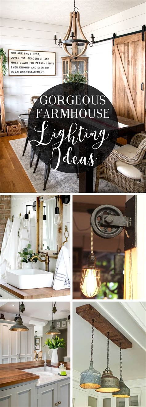 gorgeous farmhouse lighting ideas integrating  lot