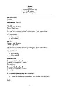 simple resume format download free simple cv template in word how to write a cv