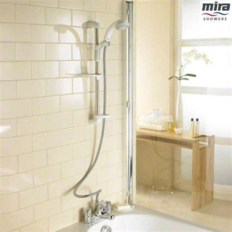 mira extra ev exposed valve bath shower mixer white  chrome