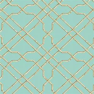 Bamboo Trellis Wallpaper in Light Blue design by York ...