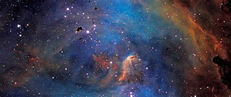 Download HD Space Universe Galaxy Nebulae Stars In Blue