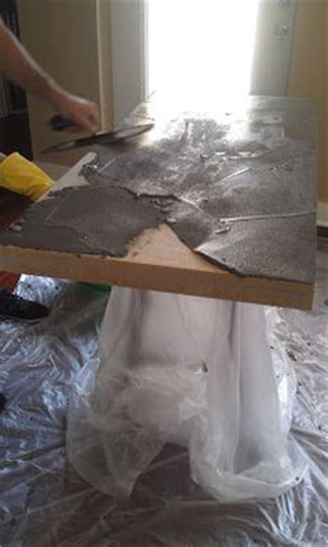 holz esstisch aufpeppen tischplatte  betonoptik