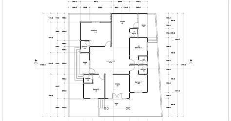 denah rumah satu lantai luas    buah kamar