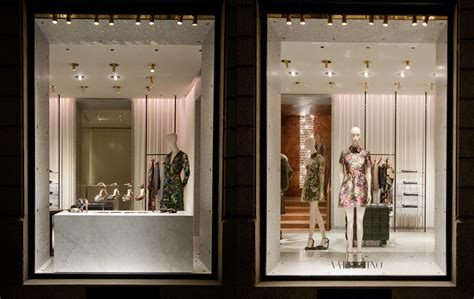 valentino windows  fall milan italy