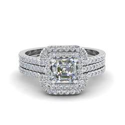 engagement rings square halo engagement rings bridal trio wedding ring sets fascinating diamonds