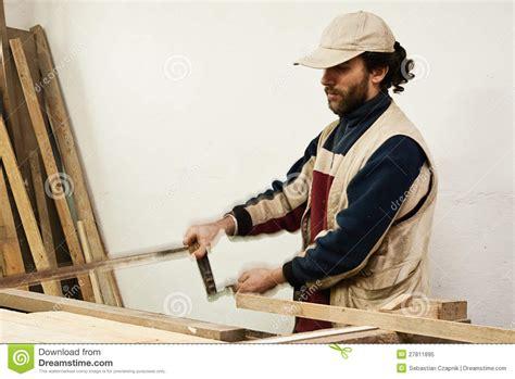 carpenter making furniture stock image image  woodwork