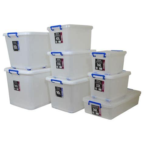 storage box plastic storage box clear boxes with lids clip locking