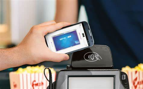 Lover With The Tablet To Mobile Payment Nfc Technology