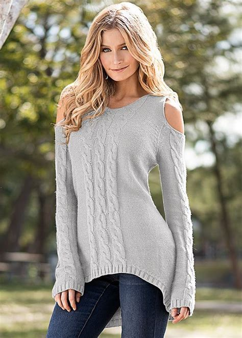 Womens Cable Detail Sweater Tunic By Venus Its All