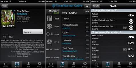 time warner phone app appshopper time warner cable brings live tv