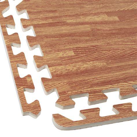 interlocking foam wood grain puzzle mat floor tiles 64