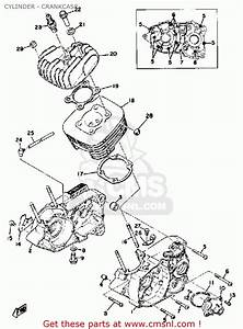 Yamaha Dt100 1979 Usa Cylinder - Crankcase