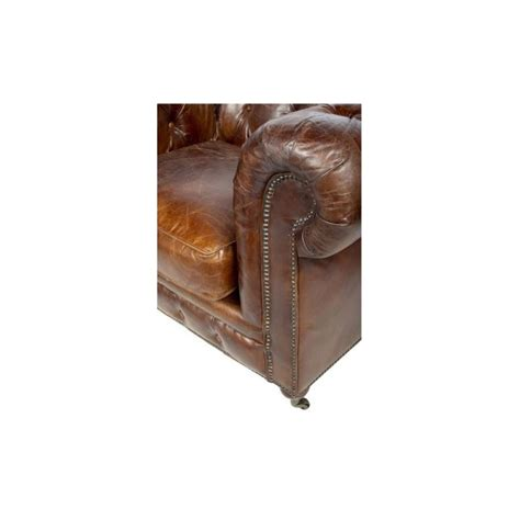 canape cuir chesterfield canapé 3 places chesterfield cuir marron vintage classique