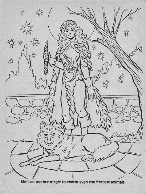 advanced dungeons dragons characters coloring book  part   warps  neptune