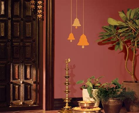 bells  metallic paint india apartment wall