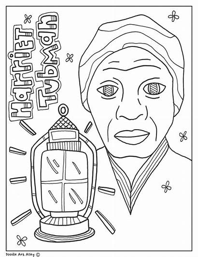 Harriet Tubman Coloring History Month Underground Railroad