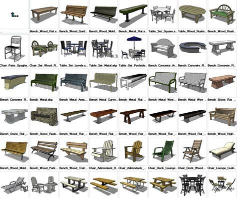 sketchup furniture exterior  models  cad