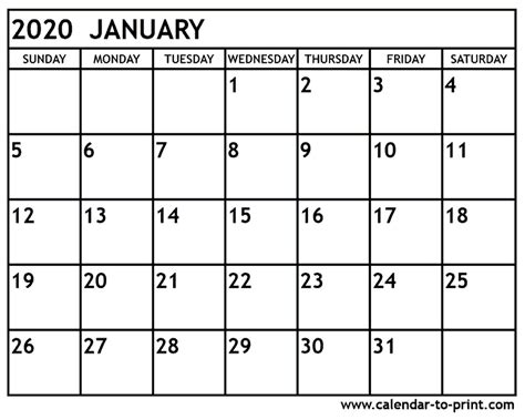 january calendar jcreviewme