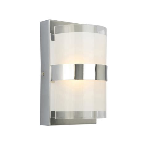 design house haswell 6 watt polished chrome integrated led