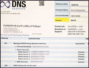dns services scam alert on your domain name thryv With domain name services invoice