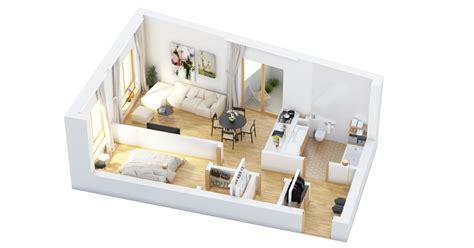 Eclectic Single Bedroom Apartment With Open Floor Plan by 40 More 1 Bedroom Home Floor Plans