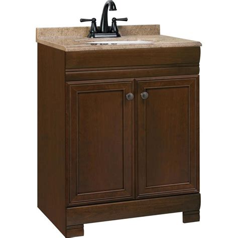 18 bathroom vanity with sink shop style selections windell auburn integral single sink