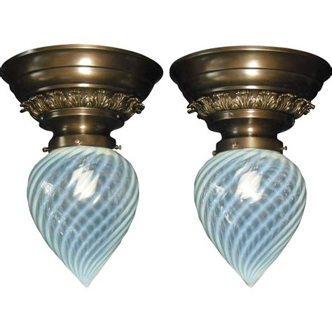 antique glass l shades opalescent swirl glass shades in fancy