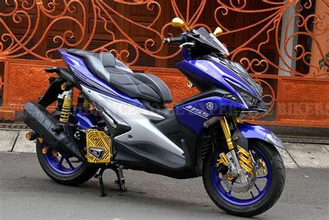 Modif Motor Aerox by Kreasi Modifikasi Yamaha Aerox 155 Keren Dan Elegan