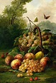 Louis Bardot Basket of Fruit in a Landscape 19th century ...