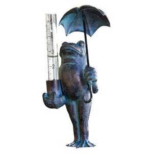 frog decorative rain gauge target
