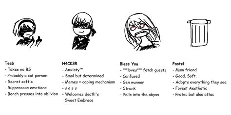 Nier Automata Memes - tag yourself nier automata edition i m h4ck3r a shadow intruiged by humans