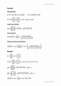 Innenwinkel Dreieck Berechnen Vektoren : skalarprodukt winkel und vektorl nge ~ Themetempest.com Abrechnung
