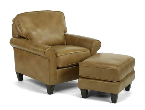 leather chair and ottoman plymouth furniture