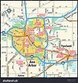 Ann Arbor Michigan Area Map Stock Vector 143948107 ...